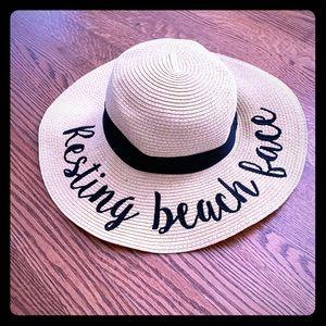 "Cute ""Resting Beach Face"" summer hat!!"